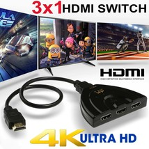 4K Hdmi Switcher W/ Cable - $17.29