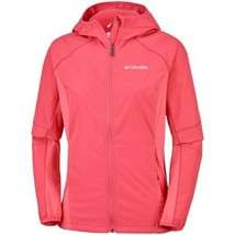 Columbia Womens Jacket Red Pink Zip Up Waterproof Sleeker Rain Size Medium - $19.80