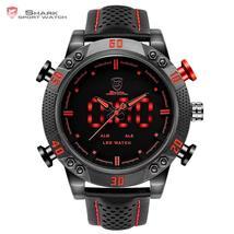 Kitefin Shark Sport Watch Brand Mens Military Quartz Red LED Hour Analog... - $179.12 CAD