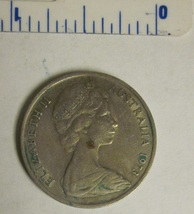 Australia 1973 - 10 Cents Copper-Nickel Coin - Lyrebird, Queen Elizabeth II - $1.00