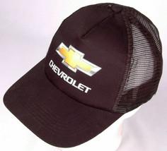 CHEVROLET Hat-Black-Mesh-Snapback-Trucker Cap-Car Auto Street Garage-Hit... - $25.23