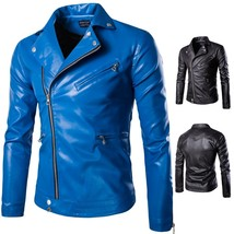 2018new autumn and winter high-end men's leather men's leather jacket, l... - $57.12