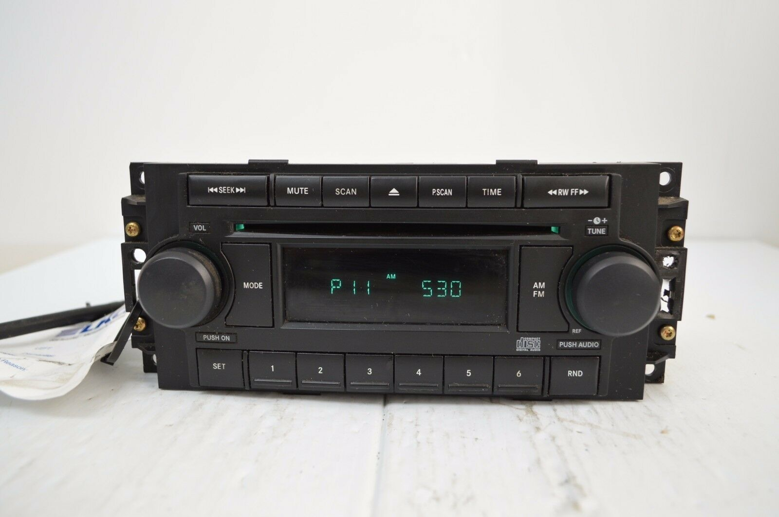 2004-2010 Chrysler Dodge Jeep Radio Cd MP3 AUX IPOD TESTED P05091710AG N49#019