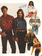 Misses' Men's Country Western Square Dancing Cowboy Rodeo Shirts Sew Pattern SM - $12.99