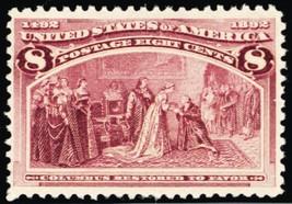 236, Mint 8¢ VF Never Hinged Stamp Cat $140. - Stuart Katz - $90.00