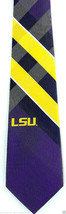 Louisiana State Tigers Mens Necktie University College Plaid Purple Neck... - $31.68