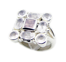 pink 925 Sterling Silver Natural splendid Rose Quartz usually Ring AU - $40.23