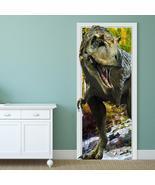 88X200CM PAG Imitative Door 3D Wall Sticker Fiery Dragon Tyrannosaurus D... - $41.99