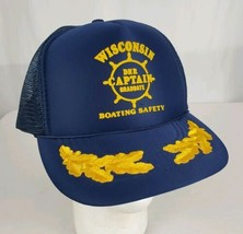 Vtg Wisconsin DNR Graduate Boating Safety Mesh SnapBack Truckers Hat Cap... - $19.99