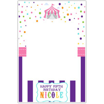 Bright Colored Circus Birthday Selfie Frame Poster - $16.34+
