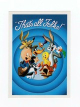 "FDC POSTCARD-""THAT'S ALL FOLKS""  PORKY PIG - 2001 ARTCRAFT CACHET  BK14 - $1.47"