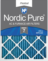 Nordic Pure 20x25x2 Pleated MERV 7 Air Filters 3 Pack - $27.99