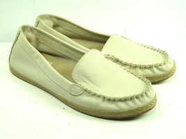 UGG 1011176 Womens Beige Leather Moc Toe Loafers Size US 7.5 - $23.91