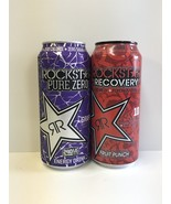 Rockstar Energy Drink Recovery Fruit Punch & Pure Zero Grape 16oz Full Cans - $8.99