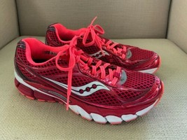 Saucony Ride 7 Berry Vizicoral Red Pink Athletic Running Shoes Womens US 8 - $18.69