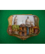 Vintage French Limoge Trinket Box Hand Painted and Signed - $200.48