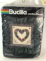 "Bucilla Needlepoint HEARTS & FLOWERS 4509 - NEW Unopened 14X 14"" Plus Ru... - $25.73"