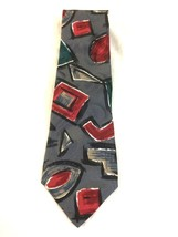 Zylos George Machado 100% Italian Silk Abstract Art Necktie Made in the USA - $8.80