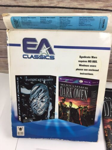 Dark Omen Syndicate Wars Warhammer EA Classics Disks Manuals Video Game PC