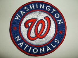"""Washington Nationals Embroidered PATCH~3 1/2"""" Round~Iron Sew~MLB~FREE US Mail - $4.95"""