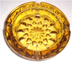 Vintage Anchor Hocking Fairfield Pattern Solid Pressed Amber Color Glass - $25.99