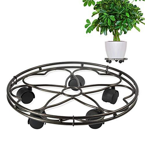 Cerbior Plant Caddy Heavy Duty Metal Plant Stand With
