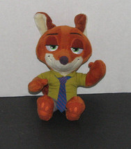 Disney Zootopia Nick Wilde Plush Stuffed Toy 6 Inch - $8.98