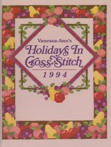 """Hard Covered Book - """"Holidays In Cross-Stitch 1994"""" - Vanessa-Ann - Gent... - $18.00"""