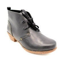 Clarks Womans Wilrose Sage Lace Up Ankle Boot Sz 5 Black Cushioned Insol... - $96.76
