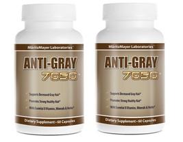 Anti-Gray Hair 7050 Restore Natural Hair Color 60 Capsule Per Bottle, 2 ... - $15.00