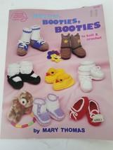 American School of Needlework Booties Booties Booties To Knit & Crochet #1049 - $7.27