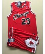 Men's Chicago Bulls #23 Michael Jordan basketball jersey suit Red.jpg - $45.99
