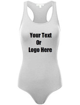 Custom Personalized Designed Womens Basic Solid Soft Stretchy Tank Top Bodysuit - $26.95