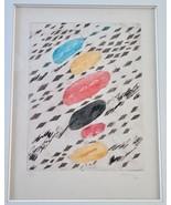 Original Miloslav Moucha Czech Artist Woodblock Print Pencil Signed Ltd ... - $124.90