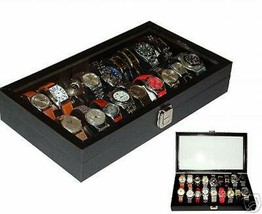 2/18 watch case Vintage Watch Cases Storage Organizer Display Gift Box - $68.95