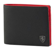 Puma Ferrari Men's Scuderia Ferrari Shield Two Tone Bi-Fold Lifestyle Wallet image 2