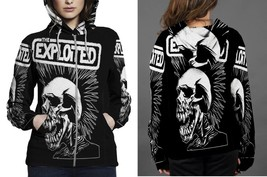 Hoodie Zipper womens The Exploited Pushead Skull - $46.70+