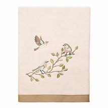 "Avanti Bird Choir II Bath Towel Embroidered Pale Pink Guest Bath 27x50""  - $44.43"