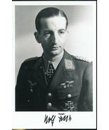 Wolfgang Falck signed photo. Nightfighter Ace! JG-132. I/ZG-1. NGJ-1 - $37.95