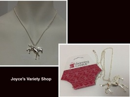 """Charming Charlie Necklace Horse Pendant Silver Tone 18"""" Free Shipping - $9.99"""