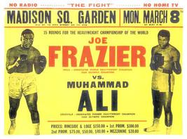 Boxing 1971 Joe Frazier vs Muhammad Ali Poster - $12.50