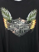 Harley-Davidson Motorcycle Sleeveless Black T-shirt Wichita Kansas Wings Size XL image 2