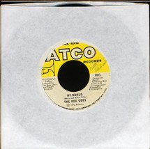 """Bee Gees - My World -  7"""" single record 45 RPM (VG) [7SPx0075]  - $3.50"""