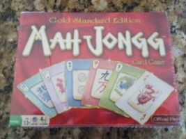Mah Jongg Gold Standard Edition Card Game New Sealed Family Fun - $24.74