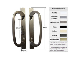 Sash Controls Mortise Style Patio Handle, B-Position, Non-Keyed, Bronze - $54.40