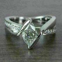2.35 Ct Marquise Cut Diamond Engagement Wedding Bypass Ring 14K White Go... - $130.99