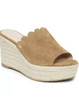 Kate Spade Toby Suede Wedge Espadrille Sandals Tan Beige Women's  SIZE 9 M NEW - $44.09