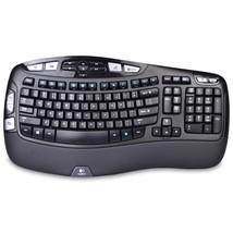 Logitech K350 2.4GHz 102-Key Wireless Multimedia Wave Keyboardw/USB Unif... - $933,79 MXN