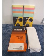 Rediform Continuous Index Cards Dot Matrix 2 Packs 500 New Plus Bonus   - $58.50
