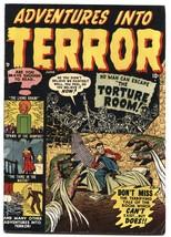 ADVENTURES INTO TERROR #4 1951-atlas-horror-vampires-HIGH GRADE - $357.69